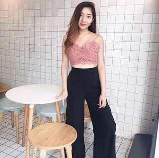 Sexy Pink Lace Top