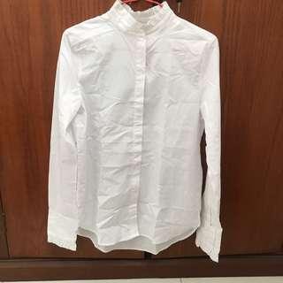 h&m hnm white top kemeja putih