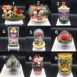 Valentine's Day preserved flowers gift set