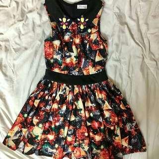 Kitschen Patterned Dress #MFEB20