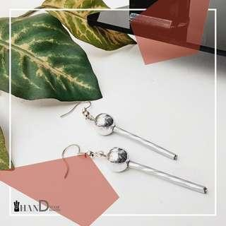 Anting Bola Silver Stick