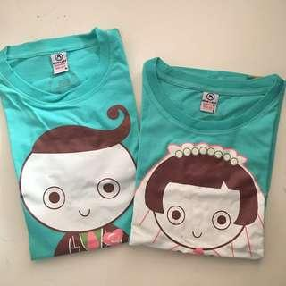 2pcs Wedding Couple Shirts
