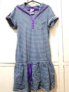 Striped Dress with Hoodie (XL) 🇬🇧