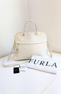 FURLA bag - Large Piper Dome Tote in creamy white 'petal' colour. RRP$799