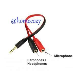 (BN) Gold Plated 3.5mm Male to Dual 3.5mm Female Headset Splitter (Brand New)