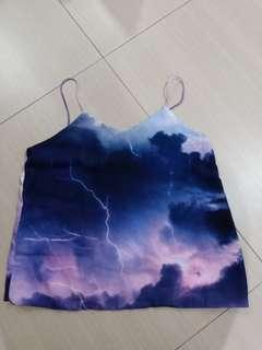 BNWT lightning purple spag top