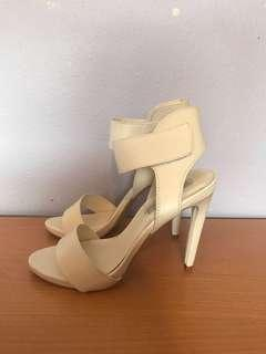 London Rebel white heels