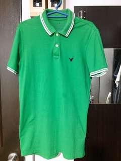 Authentic American Eagle Green Polo Shirt
