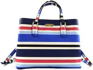 Kate Spade Stripe 2way bag