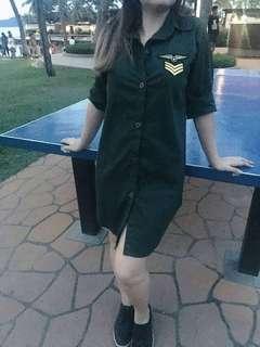 Army sleeve dress