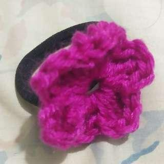 Dark pink ponytail