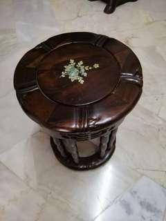 Antique bamboo coffee table