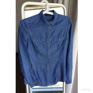Massimo Dutti Shirt, Blue, Size S, Perfect condition