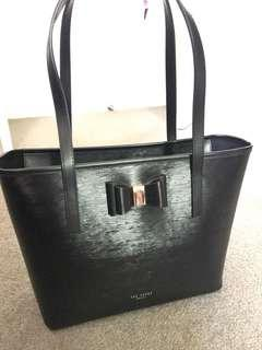 Ted baker small shopping tote bag with gold bow