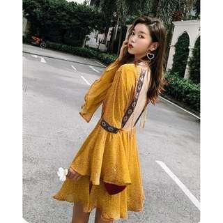 📣泰國普吉島~波西米亞露背連身短裙 #868
