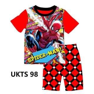 🚚 Spiderman Black Neckline Short Sleeve Tshirt/Shorts Set for ( 2 to 7  yrs old)