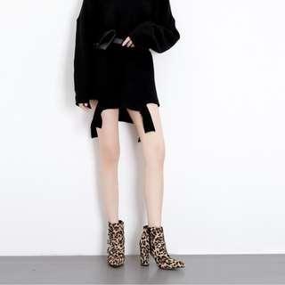 👠尖頭馬丁靴 (矮短靴) #302