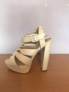 Betts white heels