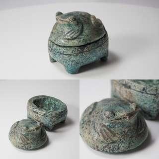 青蛙石像Vintage chinese hand craft frog stone statue