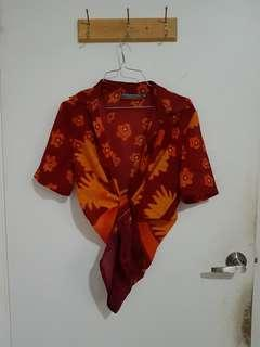 Vintage groovy buttonup shirt