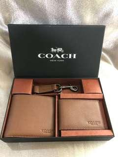Coach Men Wallet Set