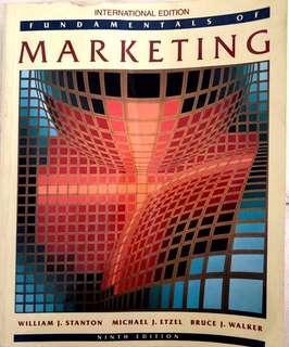 Fundamental of Marketing (9th edition)