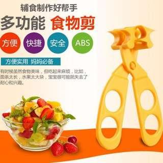 Food Cutter Scissors/Masher Brand New