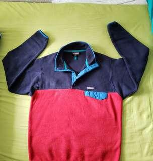 Patagonia Synchilla Mens Medium 抓毛fleece pullover