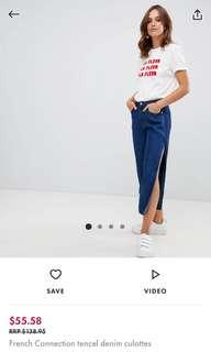 French Connection tencel denim culottes