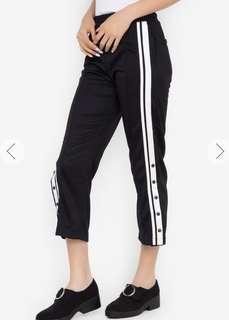 CRISSA Wide Leg Trousers Cropped Pants