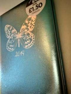 Soft Blue Paper Place 2019 Diary Planner