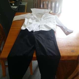 Boys size 10 formal pants & shirt