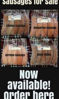 Sausages for sale