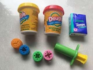 全新未拆封泥膠 連 玩具針筒