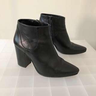 Zara Black Booties (38)