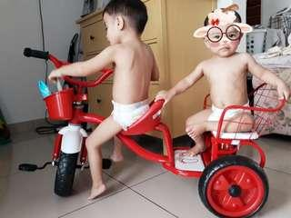 Tricycle duo 2 seat with carrier