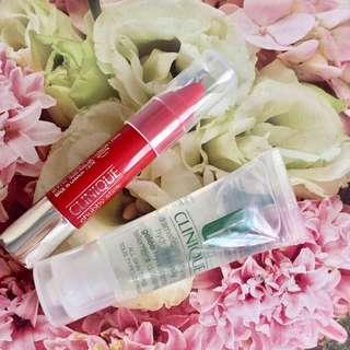 SET OF 2 -Clinique Chubby Stick RED LIPSTICK + HYDRATING JELLY