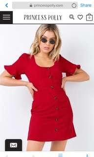CUTE MINI RED DRESS SIZE 8