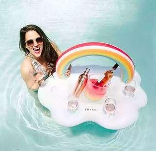 🚚 Rainbow Swimming Float