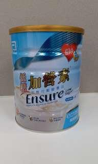全新 雅培低糖加營素 Ensure 850g (呍呢嗱味)