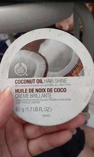 Coconut cream hair shine
