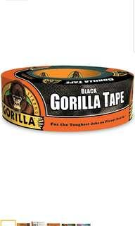 "Gorilla Tape, Black Duct Tape, 1.88"" x 35 yd"