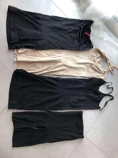 🚚 Spanx shapewear full slip strapless slip mid thigh body suit