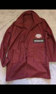 寬鬆衛衣 祖紅色 朿紅色 易襯 外套 斯文 有型 韓國 台灣 上衣 春天 跳舞 西裝 韓星