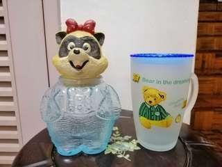 Candy jug + mug w/cover