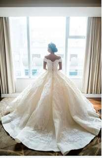 For Rent:  Customized Sweet Off Shoulder Wedding gown