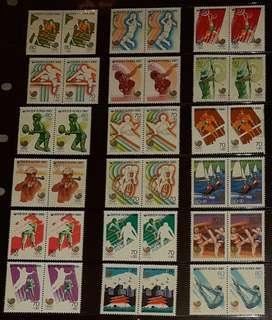 SEOUL 1988 OLYMPICS - Full set of stamps (mint)