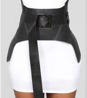 Faux Leather Corset Belt
