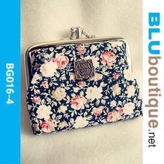 RETRO FLORA FABRIC POUCH BG016-4 *1 piece available only
