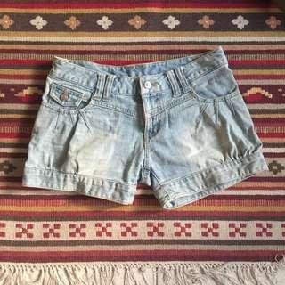🚚 日本製 olive des olive 短褲 牛仔短褲 休閒 刷色 復古 牛仔褲 洗舊